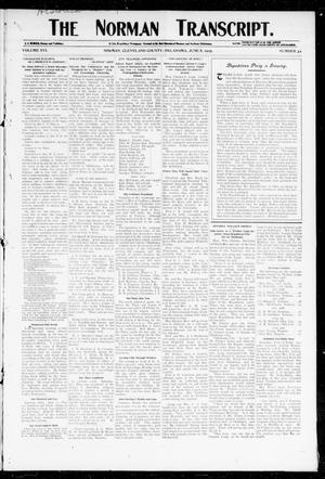 Primary view of object titled 'The Norman Transcript. (Norman, Okla.), Vol. 16, No. 32, Ed. 1 Thursday, June 8, 1905'.