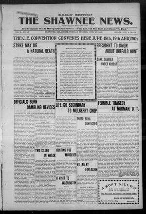 Primary view of object titled 'The Shawnee News. (Shawnee, Okla.), Vol. 5, No. 51, Ed. 1 Tuesday, June 13, 1905'.