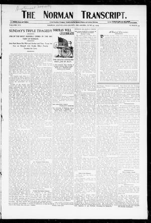 Primary view of object titled 'The Norman Transcript. (Norman, Okla.), Vol. 16, No. 33, Ed. 1 Thursday, June 15, 1905'.