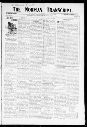 Primary view of object titled 'The Norman Transcript. (Norman, Okla.), Vol. 16, No. 35, Ed. 1 Thursday, June 29, 1905'.