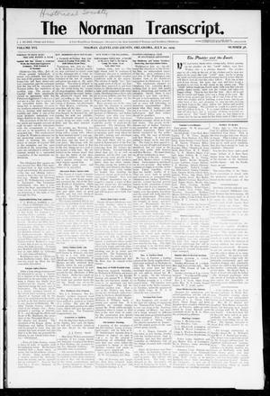 Primary view of object titled 'The Norman Transcript. (Norman, Okla.), Vol. 16, No. 38, Ed. 1 Thursday, July 20, 1905'.