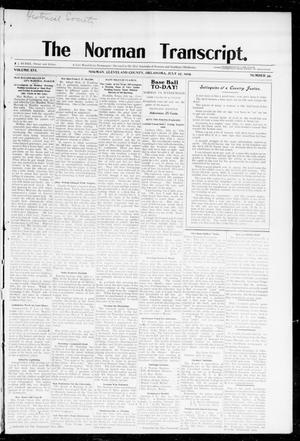 Primary view of object titled 'The Norman Transcript. (Norman, Okla.), Vol. 16, No. 39, Ed. 1 Thursday, July 27, 1905'.