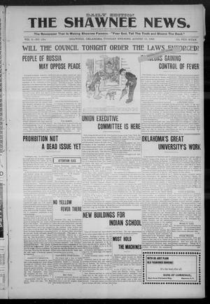 Primary view of object titled 'The Shawnee News. (Shawnee, Okla.), Vol. 9, No. 104, Ed. 1 Tuesday, August 15, 1905'.