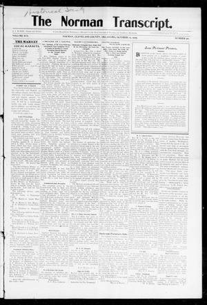 Primary view of object titled 'The Norman Transcript. (Norman, Okla.), Vol. 16, No. 50, Ed. 1 Thursday, October 12, 1905'.