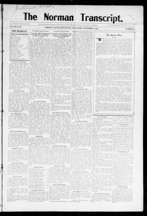 Primary view of object titled 'The Norman Transcript. (Norman, Okla.), Vol. 17, No. 02, Ed. 1 Thursday, November 9, 1905'.