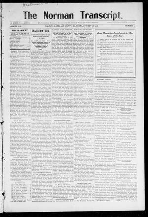 Primary view of object titled 'The Norman Transcript. (Norman, Okla.), Vol. 17, No. 12, Ed. 1 Thursday, January 18, 1906'.