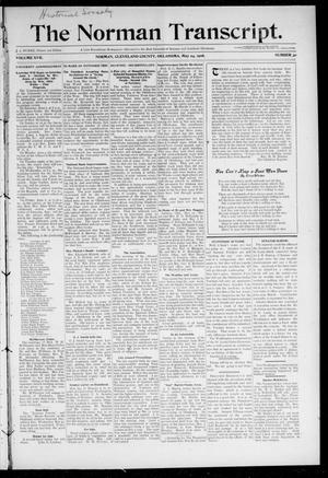 Primary view of object titled 'The Norman Transcript. (Norman, Okla.), Vol. 17, No. 30, Ed. 1 Thursday, May 24, 1906'.