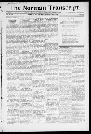 Primary view of object titled 'The Norman Transcript. (Norman, Okla.), Vol. 17, No. 31, Ed. 1 Thursday, May 31, 1906'.