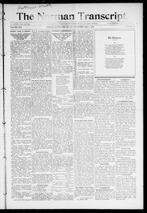 Primary view of object titled 'The Norman Transcript. (Norman, Okla.), Vol. 17, No. 32, Ed. 1 Thursday, June 7, 1906'.