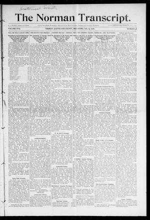 Primary view of object titled 'The Norman Transcript. (Norman, Okla.), Vol. 17, No. 38, Ed. 1 Thursday, July 19, 1906'.