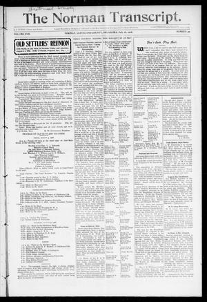 Primary view of object titled 'The Norman Transcript. (Norman, Okla.), Vol. 17, No. 39, Ed. 1 Thursday, July 26, 1906'.