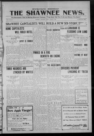 Primary view of object titled 'The Shawnee News. (Shawnee, Okla.), Vol. 9, No. 251, Ed. 1 Tuesday, August 7, 1906'.