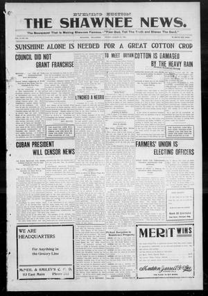 Primary view of object titled 'The Shawnee News. (Shawnee, Okla.), Vol. 9, No. 266, Ed. 1 Friday, August 24, 1906'.