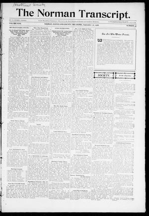 Primary view of object titled 'The Norman Transcript. (Norman, Okla.), Vol. 17, No. 47, Ed. 1 Thursday, September 27, 1906'.