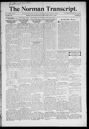 Primary view of object titled 'The Norman Transcript. (Norman, Okla.), Vol. 17, No. 48, Ed. 1 Thursday, October 4, 1906'.
