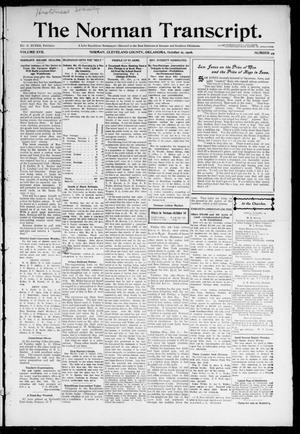 Primary view of object titled 'The Norman Transcript. (Norman, Okla.), Vol. 17, No. 49, Ed. 1 Thursday, October 11, 1906'.