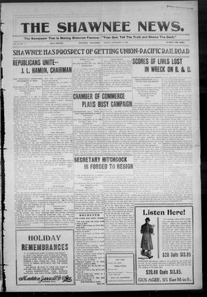 Primary view of object titled 'The Shawnee News. (Shawnee, Okla.), Vol. 10, No. 11, Ed. 1 Monday, December 31, 1906'.