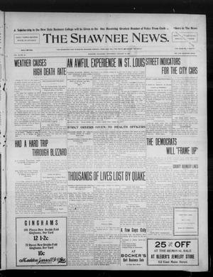 Primary view of object titled 'The Shawnee News. (Shawnee, Okla.), Vol. 10, No. 25, Ed. 1 Wednesday, January 16, 1907'.