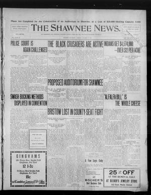 Primary view of object titled 'The Shawnee News. (Shawnee, Okla.), Vol. 10, No. 29, Ed. 1 Monday, January 21, 1907'.