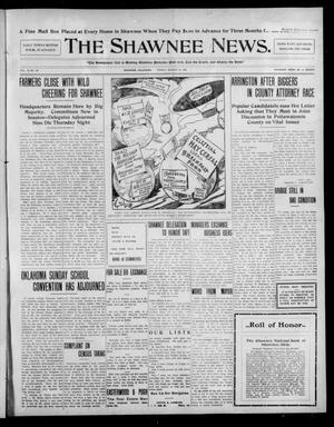 Primary view of object titled 'The Shawnee News. (Shawnee, Okla.), Vol. 10, No. 212, Ed. 1 Friday, August 23, 1907'.