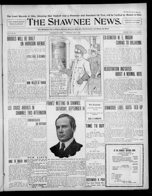Primary view of object titled 'The Shawnee News. (Shawnee, Okla.), Vol. 10, No. 227, Ed. 1 Wednesday, September 11, 1907'.