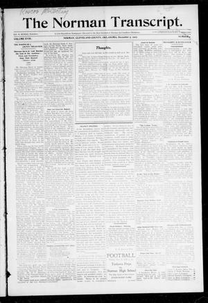Primary view of object titled 'The Norman Transcript. (Norman, Okla.), Vol. 19, No. 4, Ed. 1 Thursday, December 5, 1907'.
