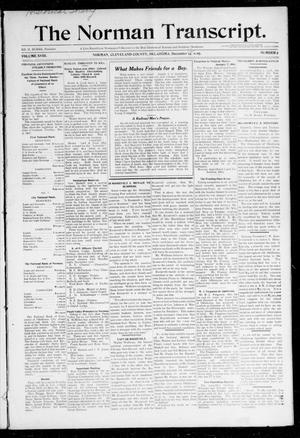 Primary view of object titled 'The Norman Transcript. (Norman, Okla.), Vol. 19, No. 5, Ed. 1 Thursday, December 12, 1907'.