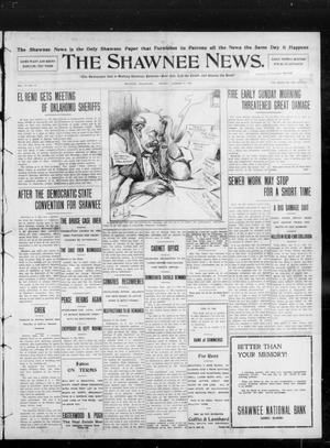 Primary view of object titled 'The Shawnee News. (Shawnee, Okla.), Vol. 13, No. 67, Ed. 1 Monday, January 6, 1908'.