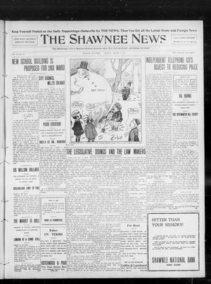 Primary view of object titled 'The Shawnee News. (Shawnee, Okla.), Vol. 13, No. 68, Ed. 1 Tuesday, January 7, 1908'.