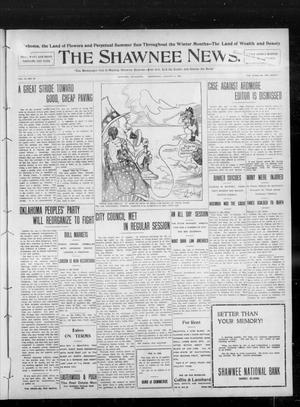 Primary view of object titled 'The Shawnee News. (Shawnee, Okla.), Vol. 13, No. 69, Ed. 1 Wednesday, January 8, 1908'.