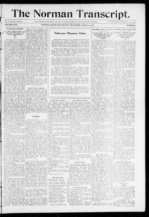 Primary view of object titled 'The Norman Transcript. (Norman, Okla.), Vol. 18, No. 8, Ed. 1 Thursday, January 9, 1908'.