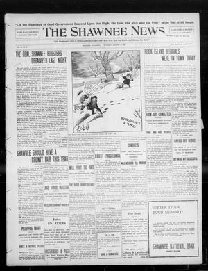 Primary view of object titled 'The Shawnee News. (Shawnee, Okla.), Vol. 13, No. 72, Ed. 1 Saturday, January 11, 1908'.
