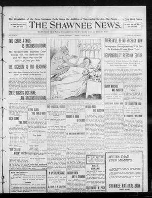 Primary view of object titled 'The Shawnee News. (Shawnee, Okla.), Vol. 13, No. 81, Ed. 1 Monday, January 20, 1908'.