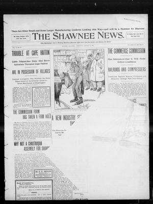 Primary view of object titled 'The Shawnee News. (Shawnee, Okla.), Vol. 13, No. 83, Ed. 1 Wednesday, January 22, 1908'.