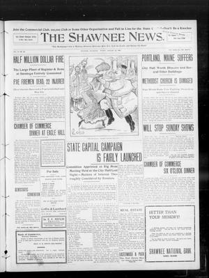 Primary view of object titled 'The Shawnee News. (Shawnee, Okla.), Vol. 13, No. 85, Ed. 1 Friday, January 24, 1908'.