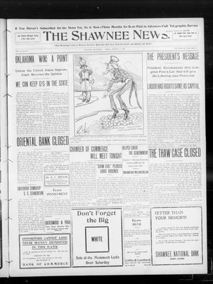 Primary view of object titled 'The Shawnee News. (Shawnee, Okla.), Vol. 13, No. 92, Ed. 1 Friday, January 31, 1908'.