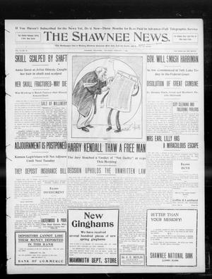 Primary view of object titled 'The Shawnee News. (Shawnee, Okla.), Vol. 13, No. 93, Ed. 1 Saturday, February 1, 1908'.
