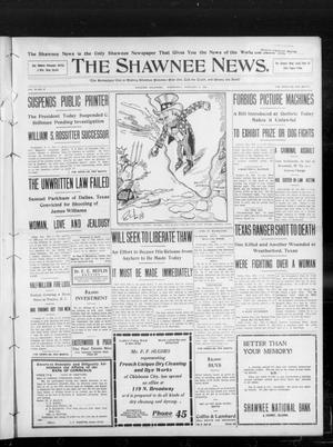 Primary view of object titled 'The Shawnee News. (Shawnee, Okla.), Vol. 13, No. 97, Ed. 1 Wednesday, February 5, 1908'.