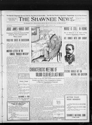 Primary view of object titled 'The Shawnee News. (Shawnee, Okla.), Vol. 13, No. 99, Ed. 1 Friday, February 7, 1908'.
