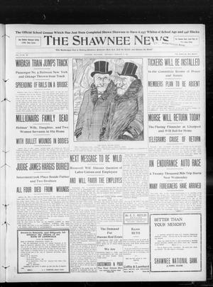 Primary view of object titled 'The Shawnee News. (Shawnee, Okla.), Vol. 13, No. 100, Ed. 1 Saturday, February 8, 1908'.