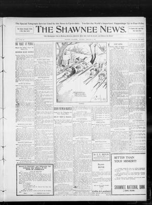 Primary view of object titled 'The Shawnee News. (Shawnee, Okla.), Vol. 13, No. 100, Ed. 2 Saturday, February 8, 1908'.