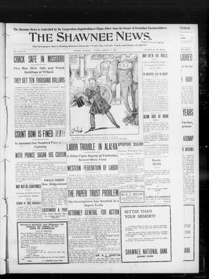Primary view of object titled 'The Shawnee News. (Shawnee, Okla.), Vol. 13, No. 102, Ed. 1 Tuesday, February 11, 1908'.