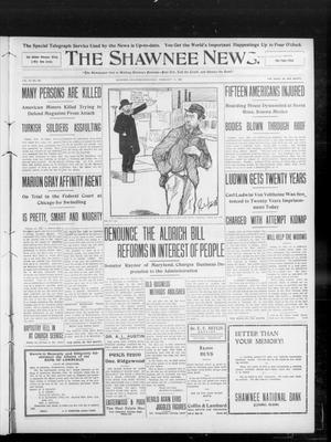 Primary view of object titled 'The Shawnee News. (Shawnee, Okla.), Vol. 13, No. 103, Ed. 1 Wednesday, February 12, 1908'.