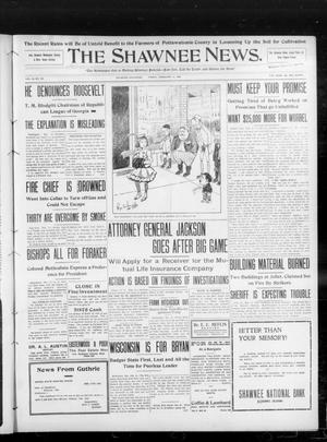 Primary view of object titled 'The Shawnee News. (Shawnee, Okla.), Vol. 13, No. 105, Ed. 1 Friday, February 14, 1908'.