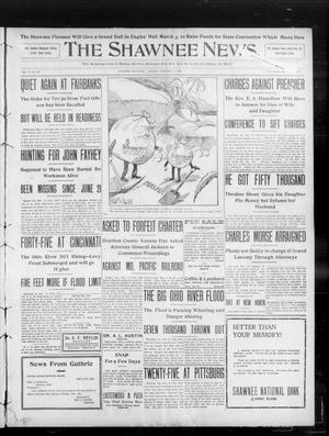 Primary view of object titled 'The Shawnee News. (Shawnee, Okla.), Vol. 13, No. 108, Ed. 1 Monday, February 17, 1908'.