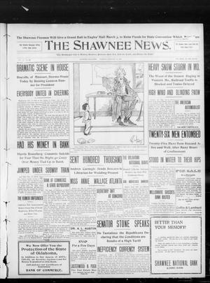 Primary view of object titled 'The Shawnee News. (Shawnee, Okla.), Vol. 13, No. 109, Ed. 1 Tuesday, February 18, 1908'.