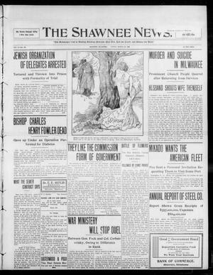 Primary view of object titled 'The Shawnee News. (Shawnee, Okla.), Vol. 13, No. 140, Ed. 1 Friday, March 20, 1908'.