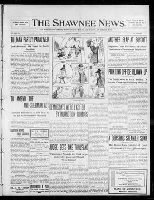 Primary view of object titled 'The Shawnee News. (Shawnee, Okla.), Vol. 13, No. 142, Ed. 1 Monday, March 23, 1908'.