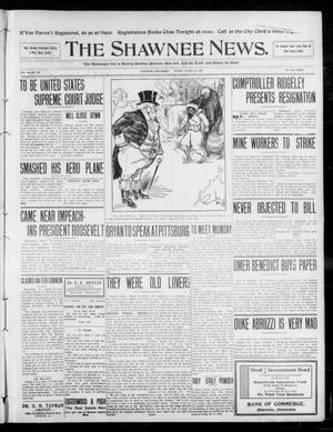 Primary view of object titled 'The Shawnee News. (Shawnee, Okla.), Vol. 13, No. 146, Ed. 1 Friday, March 27, 1908'.
