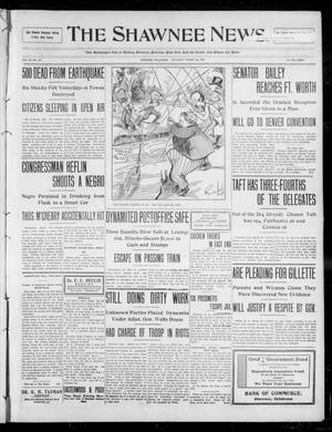 Primary view of object titled 'The Shawnee News. (Shawnee, Okla.), Vol. 13, No. 147, Ed. 1 Saturday, March 28, 1908'.